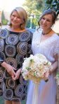 A photo of Sophie with her Aunt Martha after a beautiful wedding ceremony.